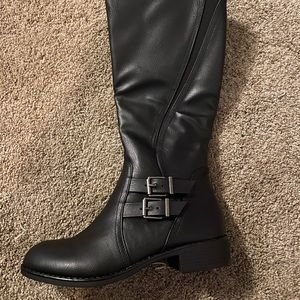 Style & Co Knee Length Leather Boots